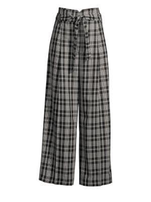 Cina Plaid Wide Leg Trousers
