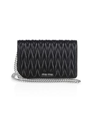 Matelassé Leather Crossbody Bag
