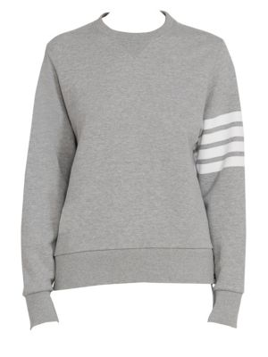 Patchwork Back Crewneck Sweatshirt