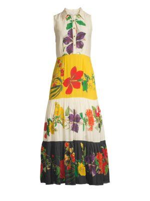 Natalie Floral Cotton Silk Dress