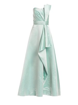 Strapless Duchess Satin Gown