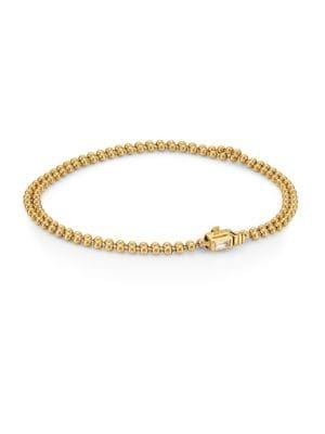 Flapper 18K Yellow Gold & Diamond Beaded Bracelet