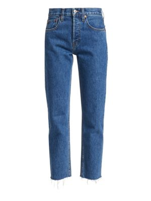 Rigid High-Rise Cropped Jeans