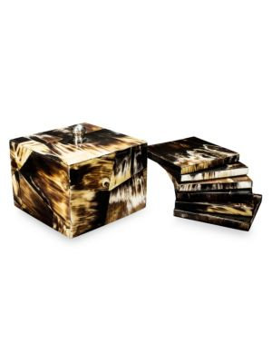 Horn Luxe Set of Six Coasters