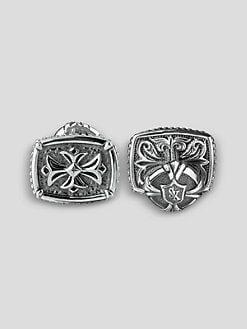 Scott Kay - Engraved Cross Cuff Links