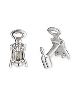 Robin Rotenier - Corkscrew and Wine Bottle Cuff Links