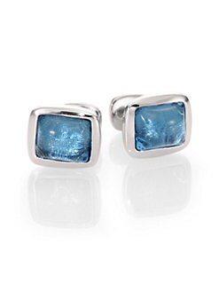 Robin Rotenier - Blue Cushion Cuff Links