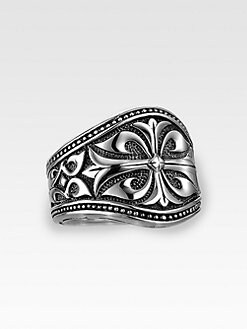 Scott Kay - Engraved Silver Ring