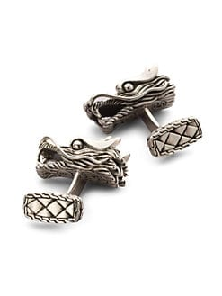 John Hardy - Naga Dragon Head Cuff Links