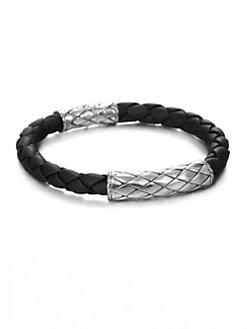 John Hardy - Woven Leather Bracelet
