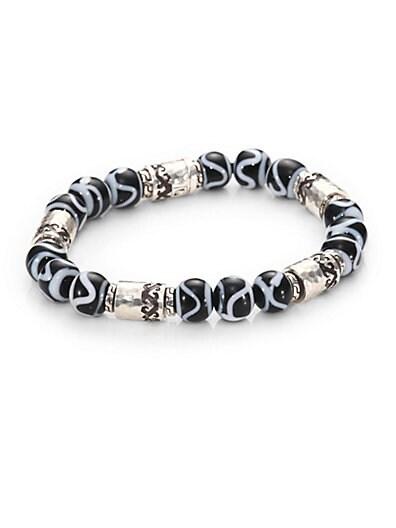 Palu Silver Beaded Bracelet