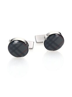 Burberry - Check Cuff Links/Round
