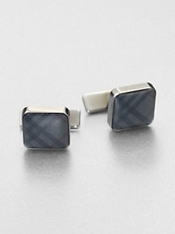 Burberry - Check Cuff Links/Square