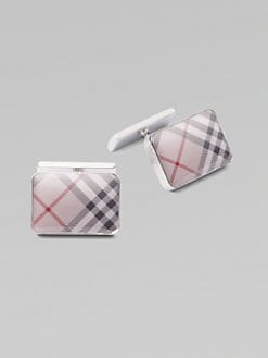 Burberry - Check Cuff Links/Rectangle