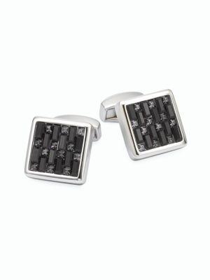Swarovski Interlock Cuff Links