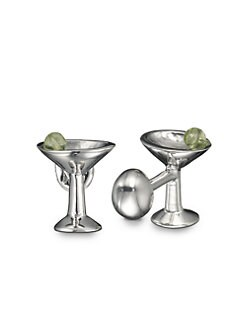 Robin Rotenier - Martini Glass Cuff Links