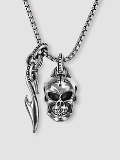 Scott Kay - UnKaged Skull Necklace