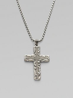 David Yurman - Waves Black Diamond Cross Necklace