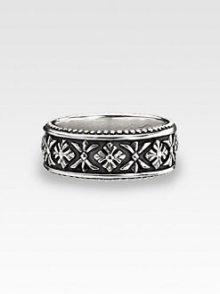 Scott Kay - Cross Engraved Ring