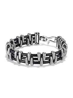 David Yurman - Leather Stippled Bracelet