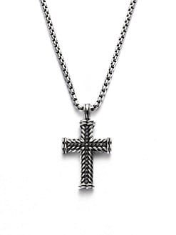 David Yurman - Pavé Chevron Cross Necklace
