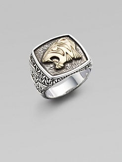 John Hardy - Silver & 18K Gold Tiger Ring