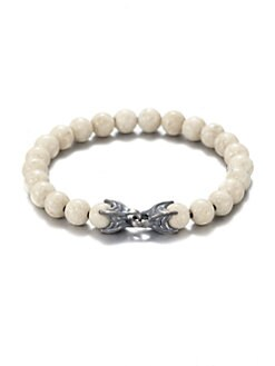David Yurman - River Stone & Sterling Silver Beaded Bracelet