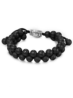 David Yurman - Black Onyx Beaded Bracelet