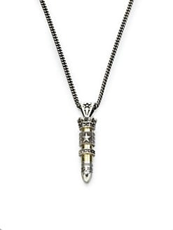 King Baby Studio - Sterling Silver & Brass Bullet Necklace
