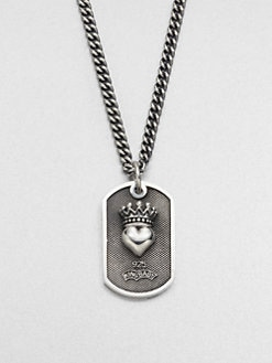King Baby Studio - Small Crowned Heart Dog Tag Necklace