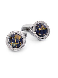 Tateossian - Sterling Silver Globe Cuff Links