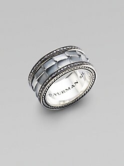David Yurman - Pave Silver Band Ring