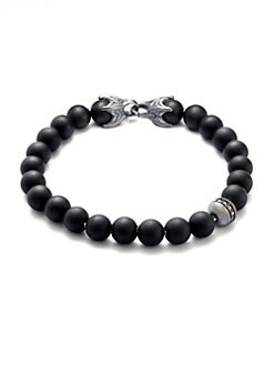 David Yurman - Spiritual Bead Bracelet/Onyx & Diamond