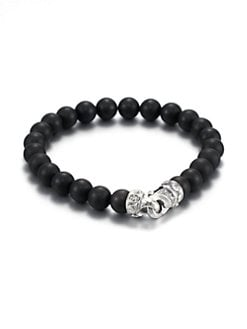 Scott Kay - Matte Black Onyx Beaded Bracelet/8MM