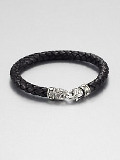 Scott Kay - Braided Distressed Leather Bracelet