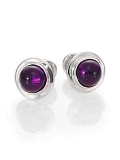 Robin Rotenier - Amethyst Globe Cuff Links