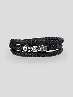 Scott Kay - Woven Leather Wrap Bracelet