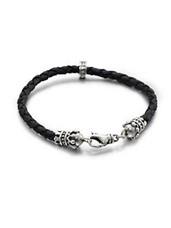 King Baby Studio - Leather Crown Bracelet