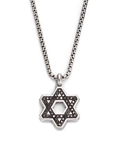 David Yurman - Black Diamond Star of David Necklace