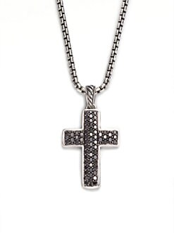 David Yurman - Black Diamond Cross Necklace