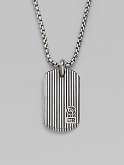 David Yurman - Royal Cord Dogtag Necklace