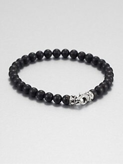 Scott Kay - Matte Black Onyx Beaded Bracelet/6MM