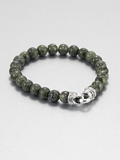 Scott Kay - Green Jasper Beaded Bracelet
