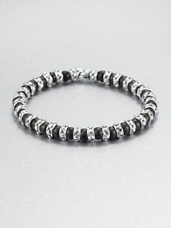 Scott Kay - Matte Black Onyx & Sterling Silver Beaded Bracelet
