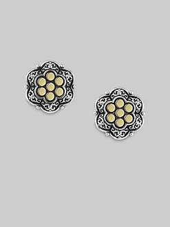 Scott Kay - Sterling Silver and 18K Yellow Gold Cuff Links