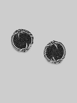 Scott Kay - Sterling Silver & Black Sapphire Cuff Links