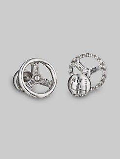 Robin Rotenier - Silver Wheel Cuff Links