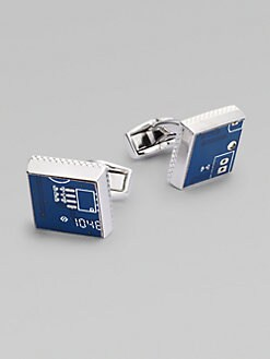 Tateossian - Circuit Square Cuff Links