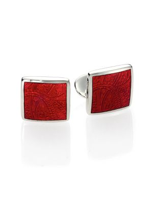 Paisley Sterling Silver Cuff Links