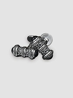 Scott Kay - Onyx Cap Sparta Cuff Links
